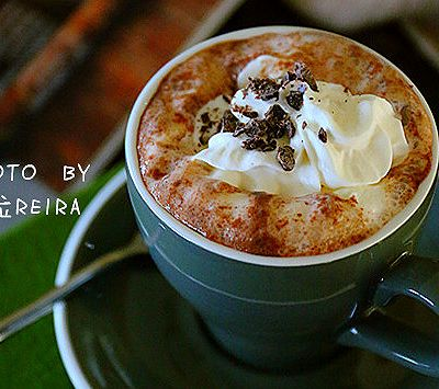 冬季热饮 雪顶热巧克力