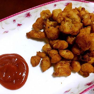 鸡米花(附面包糠做法)
