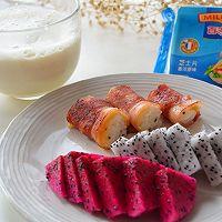 营养快手早餐-培根芝士饭卷#百吉福食尚达人#的做法图解6