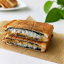 海苔肉松寿司三明治