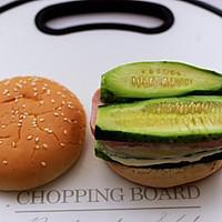 #秋天怎么吃#快手午餐肉黄瓜汉堡包的做法图解9