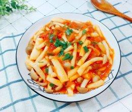 超好吃,连汤汁都不放过的西红柿海鲜菇!的做法