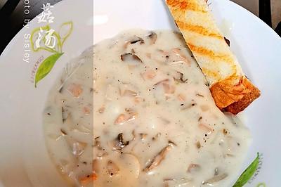 内涵实足的奶油蘑菇汤