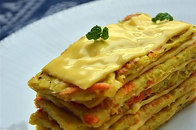 芝士土豆千层饼 — #百吉福芝士片创意早餐#