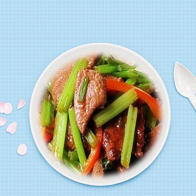 排毒餐,芹菜炒猪肝