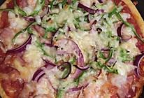 鸡肉蘑菇比萨&培根大虾比萨的做法