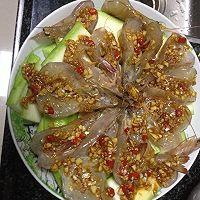 蒜蓉丝瓜开边虾的做法图解3