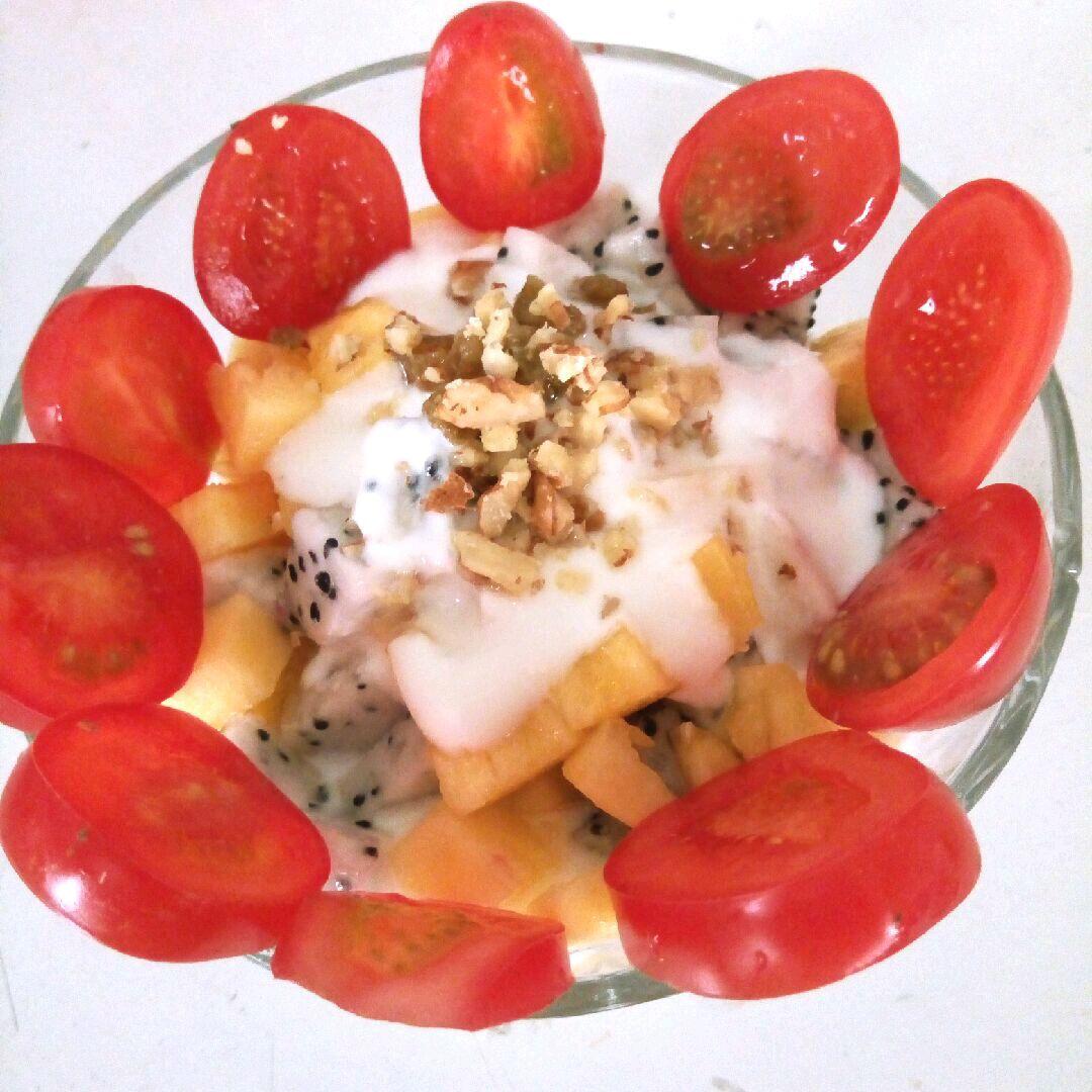 水果沙拉的做法步骤 1.