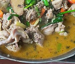 家常兔肉火锅的做法