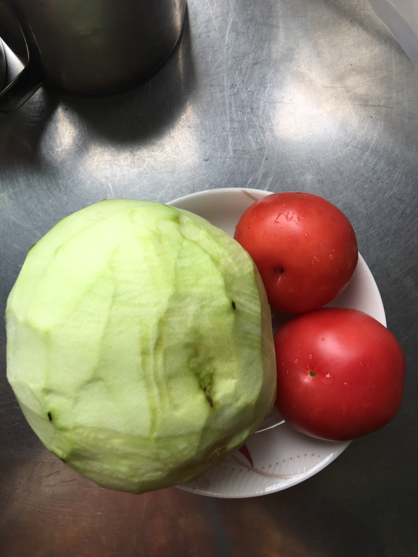 少油西红柿炒茄子