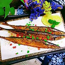 鲜美可口烤箱版柠檬秋刀鱼
