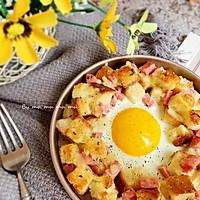 香肠吐司太阳蛋#520,美食撩动TA的心!#的做法图解8