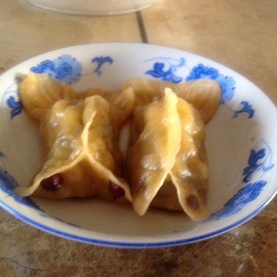 大喜大牛肉粉试用之---年年有余(三鲜蒸饺)的做法 步骤13