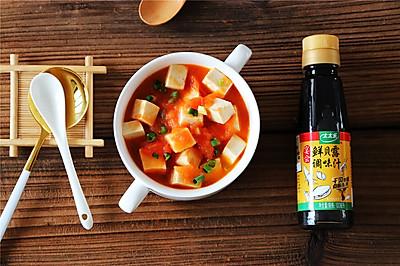 鲜贝露春日尝鲜+西红柿豆腐汤