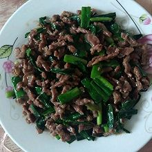 牛肉炒大蒜