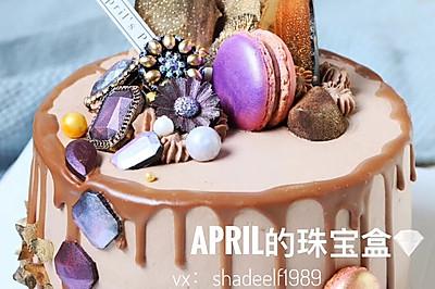 手工珠宝巧克力蛋糕