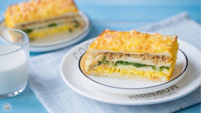 黄金肉松三明治的做法
