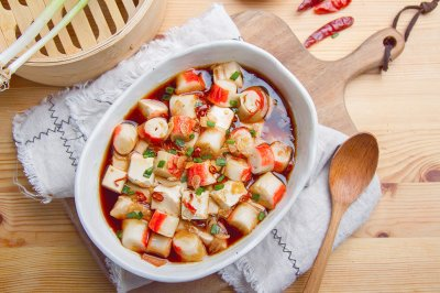 虾米辣椒蒸豆腐