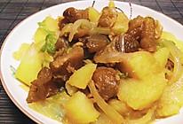 洋葱土豆烧牛筋的做法