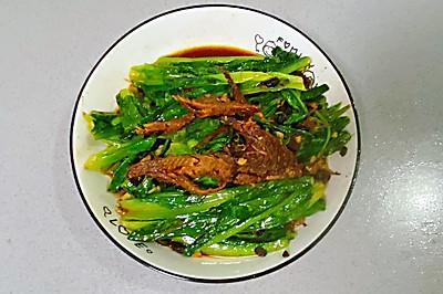 【孕妇食谱】豆豉鲮鱼油麦菜,鲜香扑鼻,美味又下饭~