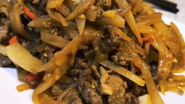 牛肉萝卜丝小炒的做法