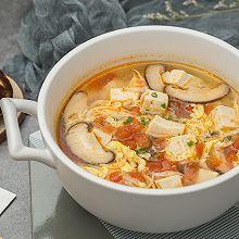 番茄银鱼豆腐汤