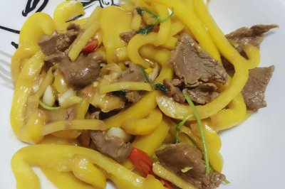 黄椒炒牛肉