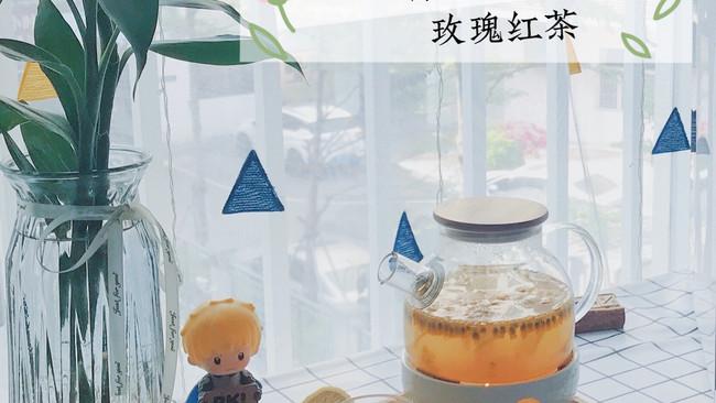 美容养颜的柠檬百香果玫瑰红茶的做法