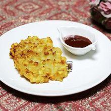 季节美食之:香甜酥脆红薯饼
