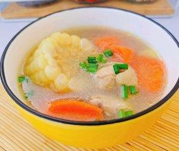 甜玉米鸡汤的做法