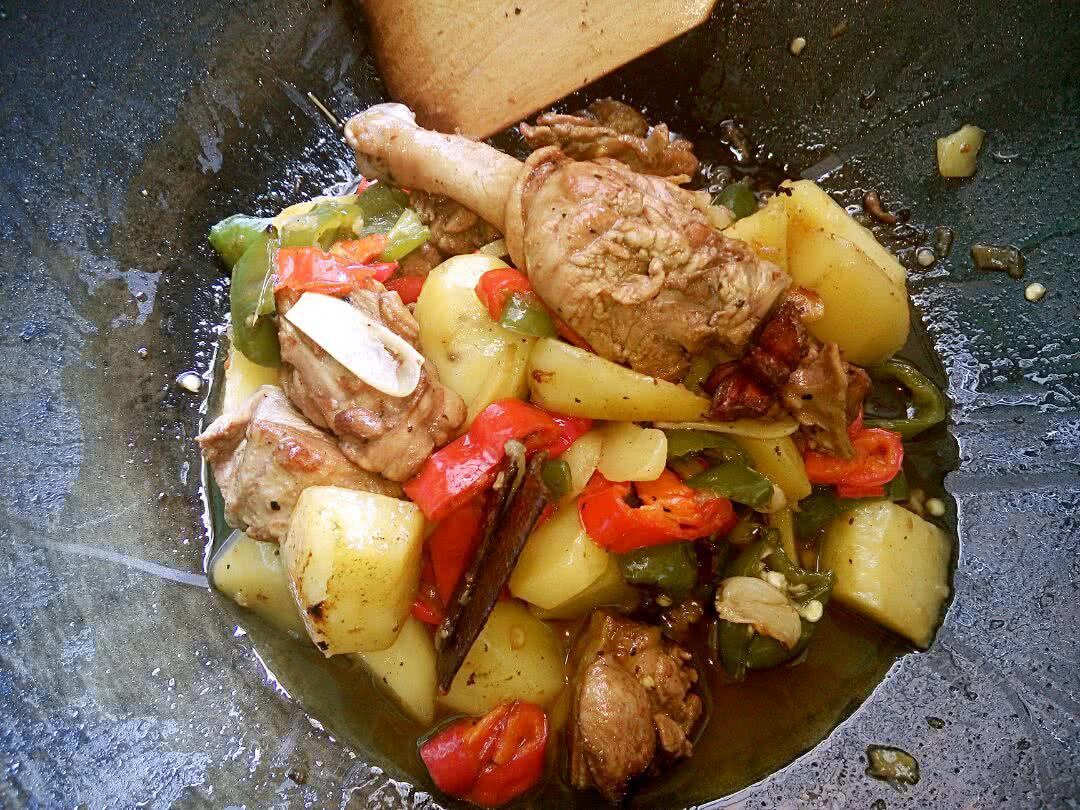 土豆烧鸭的做法图解14
