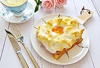棉袄的早餐--豪华版火腿火烧云吐司#春天肉菜这样吃#的做法
