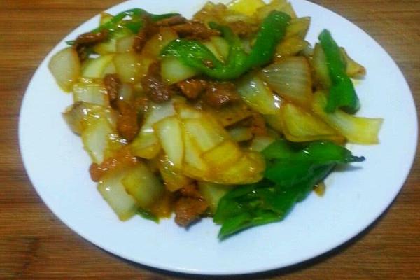 大喜大牛肉粉试用之葱头炒肉片的做法