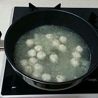 白菜豆腐丸子的做法图解4