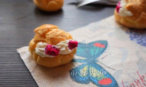 火龙果奶油泡芙的做法