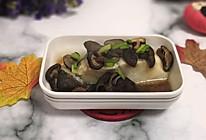 #10分钟早餐大挑战#香菇蒸鳕鱼的做法