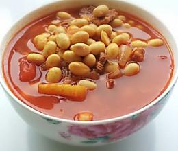 产妇进补汤品——番茄牛肉黄豆汤的做法