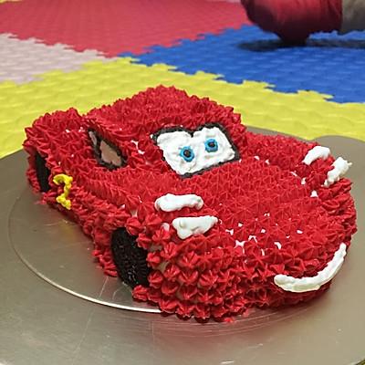 红色跑车(闪电麦坤)—汽车生日蛋糕/卡通蛋糕