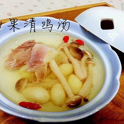 白果清鸡汤