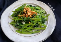 金银蒜蓉空心菜的做法
