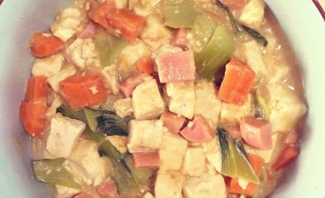 咸蛋黄烩豆腐