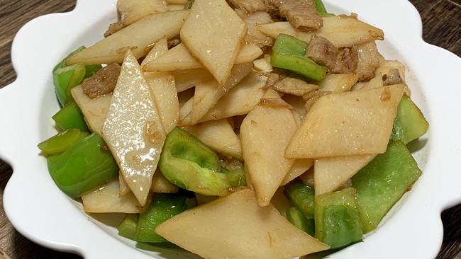 #橄享国民味 热烹更美味#肉片炒山药的做法