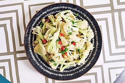 10分钟搞定超简单又好吃的爆香松花菜