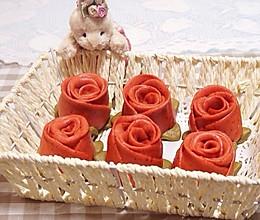 """玫瑰花卷——爱对了人情人节每天""""豆果""""的做法"""