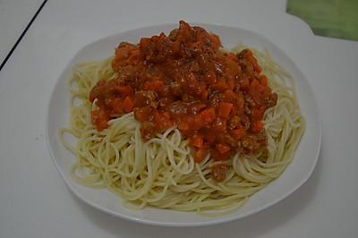 西红柿牛肉意大利面