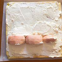 #秋天怎么吃#波点蜜桃蛋糕卷的做法图解21