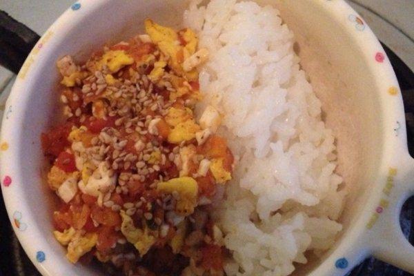 【宝宝1+辅食】豆腐番茄蛋的做法
