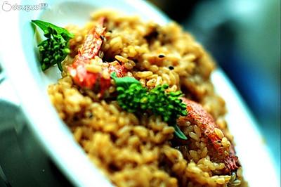 饭里窝着个小螃蟹~!螃蟹烩饭~