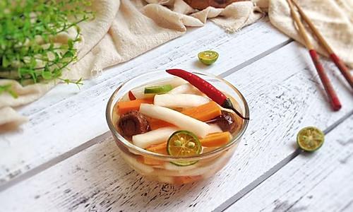 开胃小菜:话梅一夜渍萝卜的做法