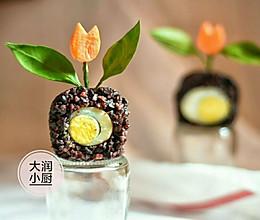 排毒抗抑郁-胡麻花盘米团#月子餐吃出第二春#的做法